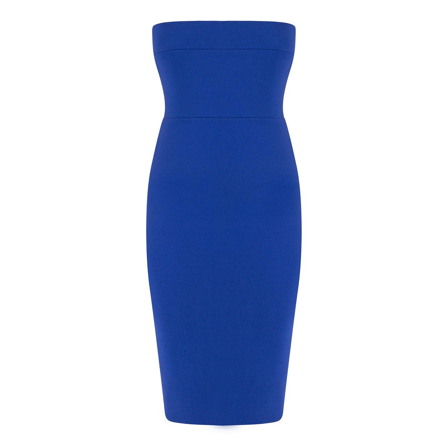 Victoria Beckham Matte Crepe Fitted Corset Dress