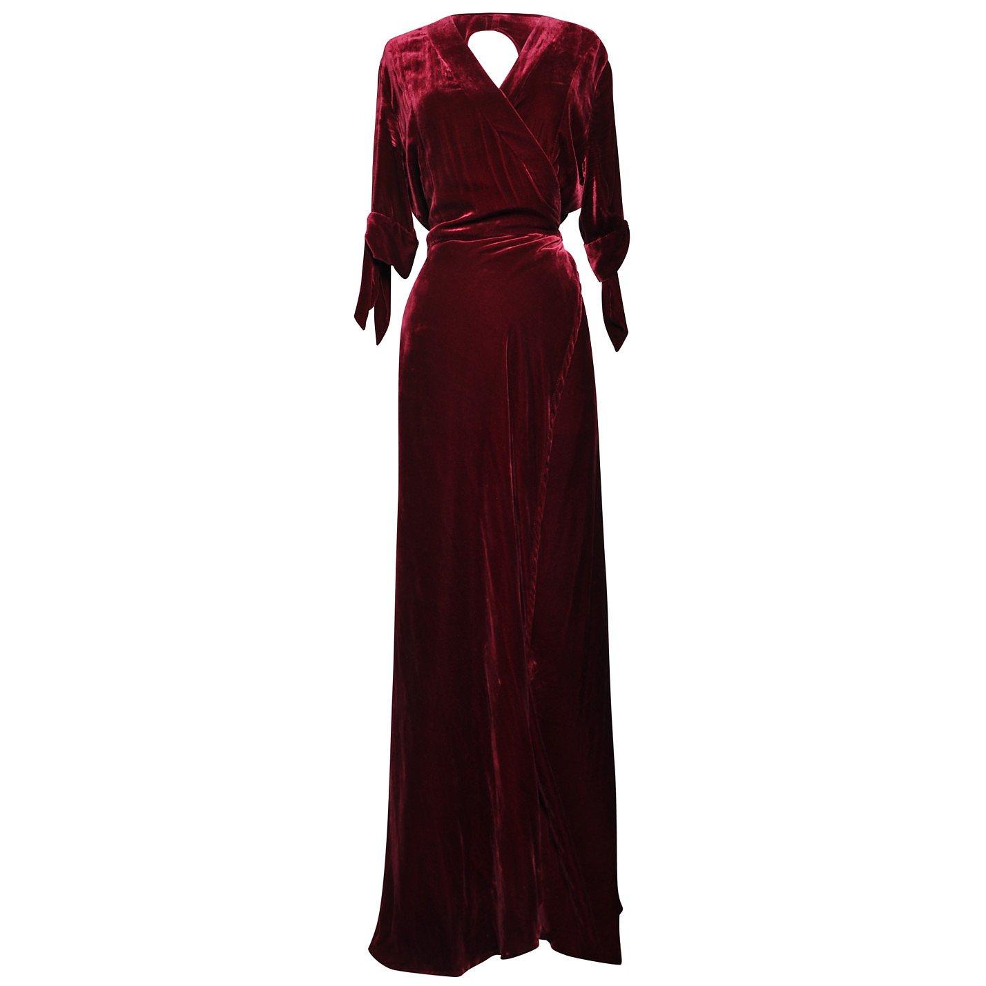 Quuina Velvet Wrap Dress