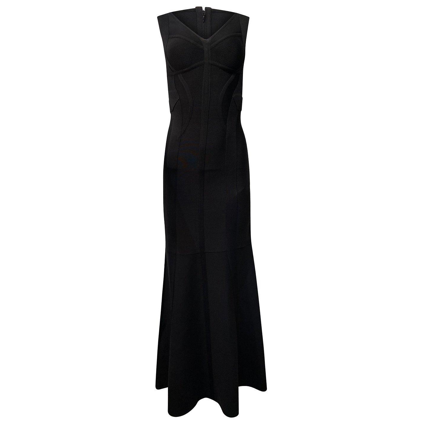 Herve Leger Contoured Long Dress