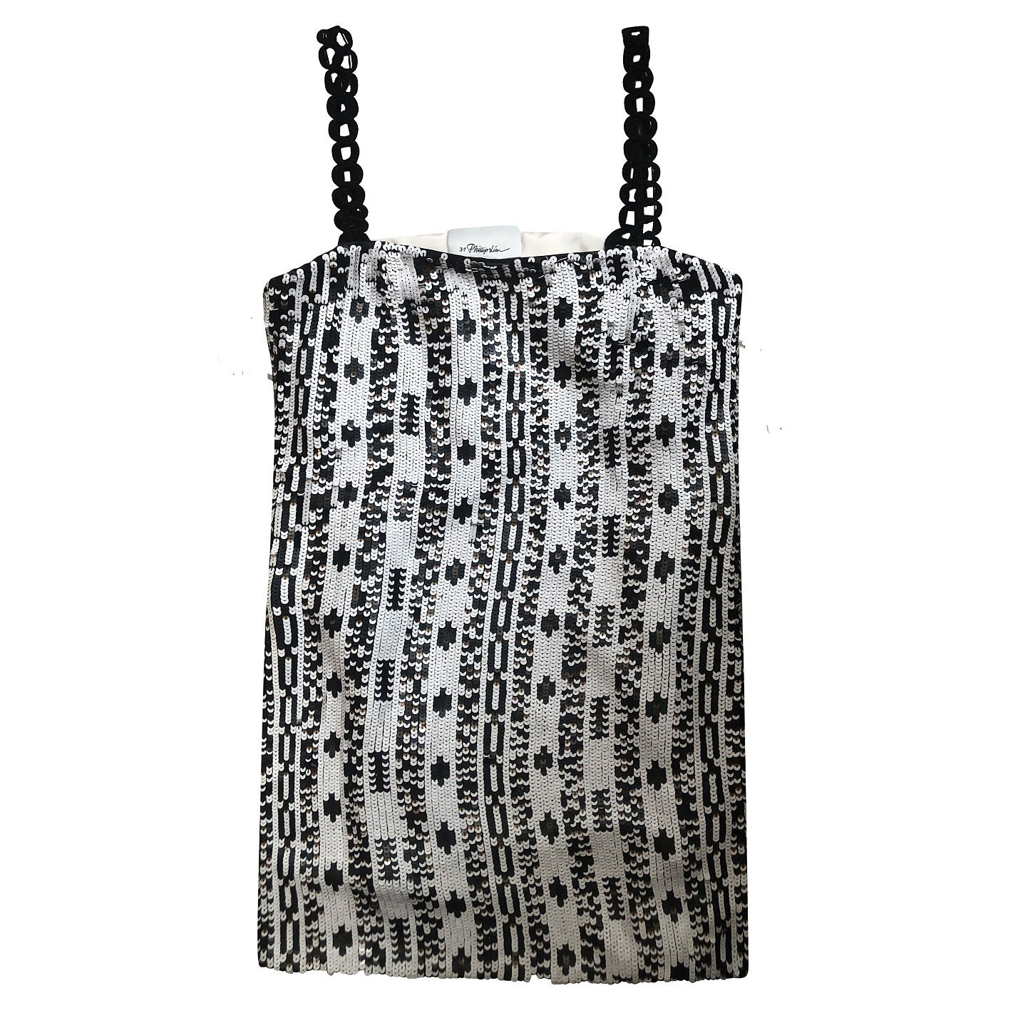 3.1 Phillip Lim Sequin Top With Chain Straps