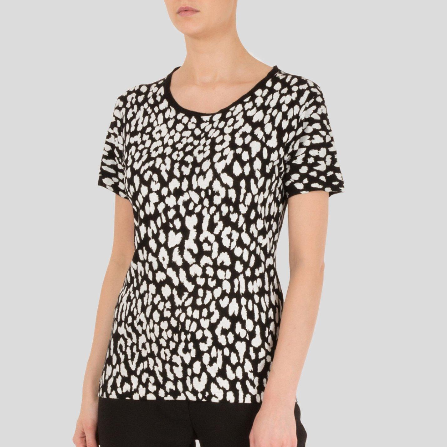 Yves Saint Laurent Monochrome Leopard Print T-Shirt