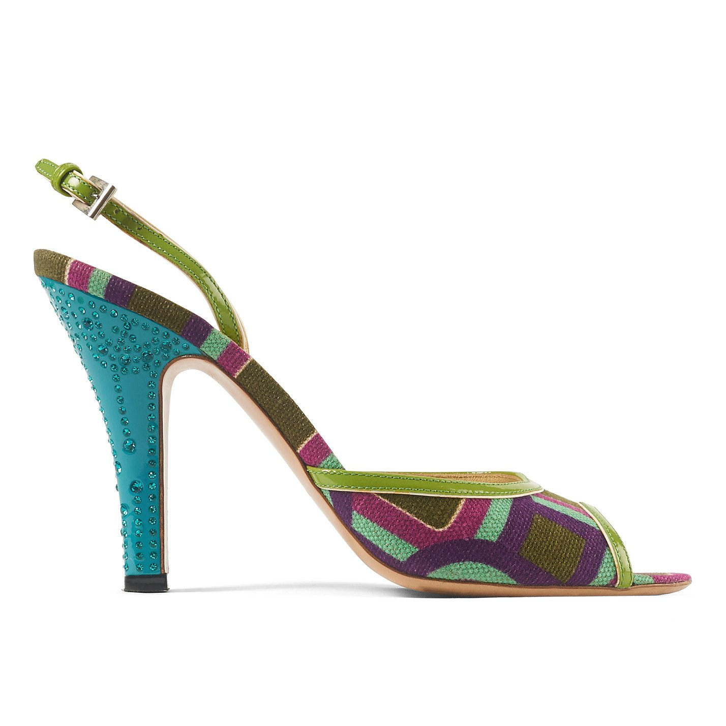 PRADA Patterned Peep Toe Heels