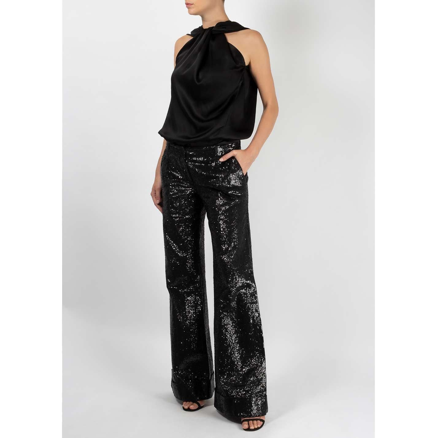 DOLCE & GABBANA Flared Sequin Trousers