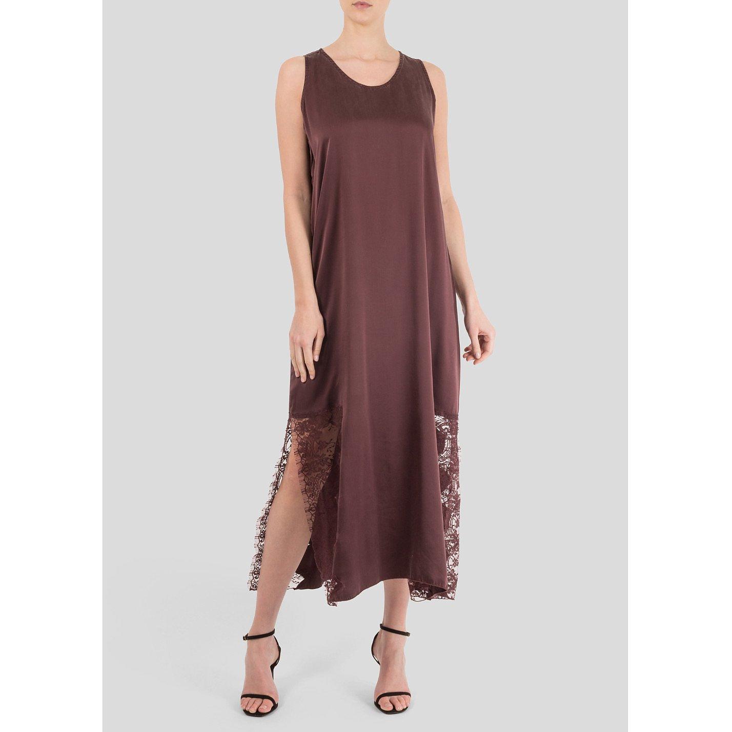 Icons Violet Silk Maxi Dress