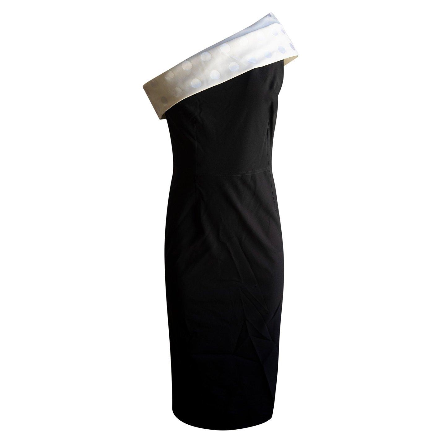 Emilio De La Morena Bonded Silk Off-Shoulder Polka Dress
