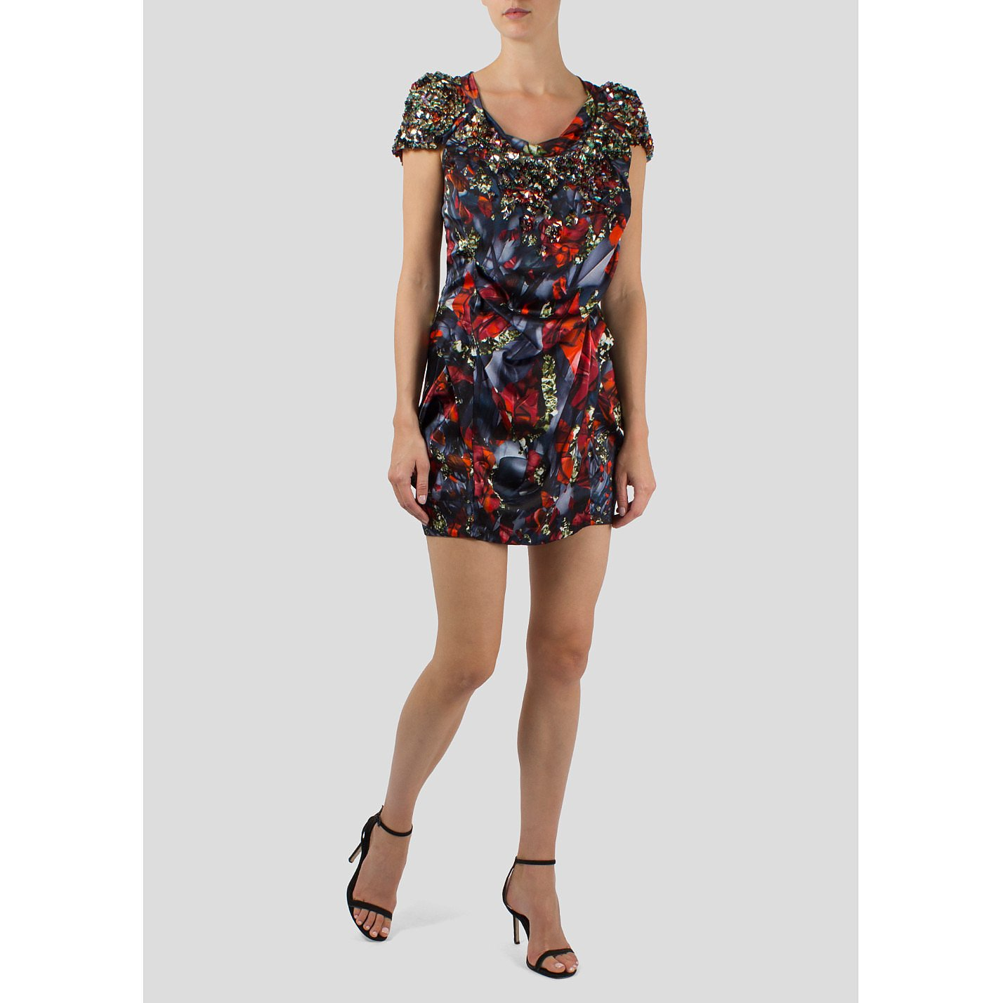 Peter Pilotto Embellished Silk Mini Dress