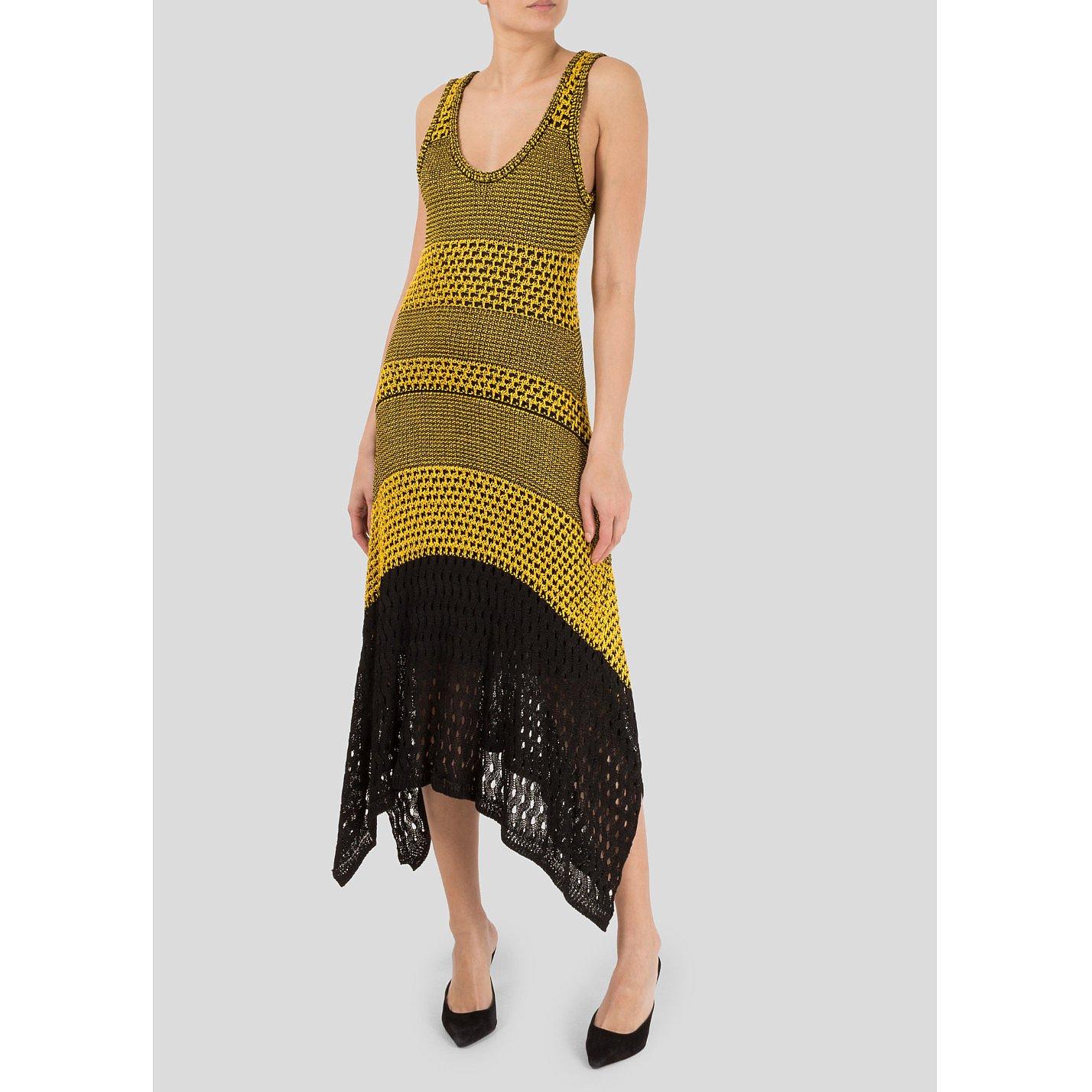 Proenza Schouler Sleeveless Bi-Colour Crochet Dress
