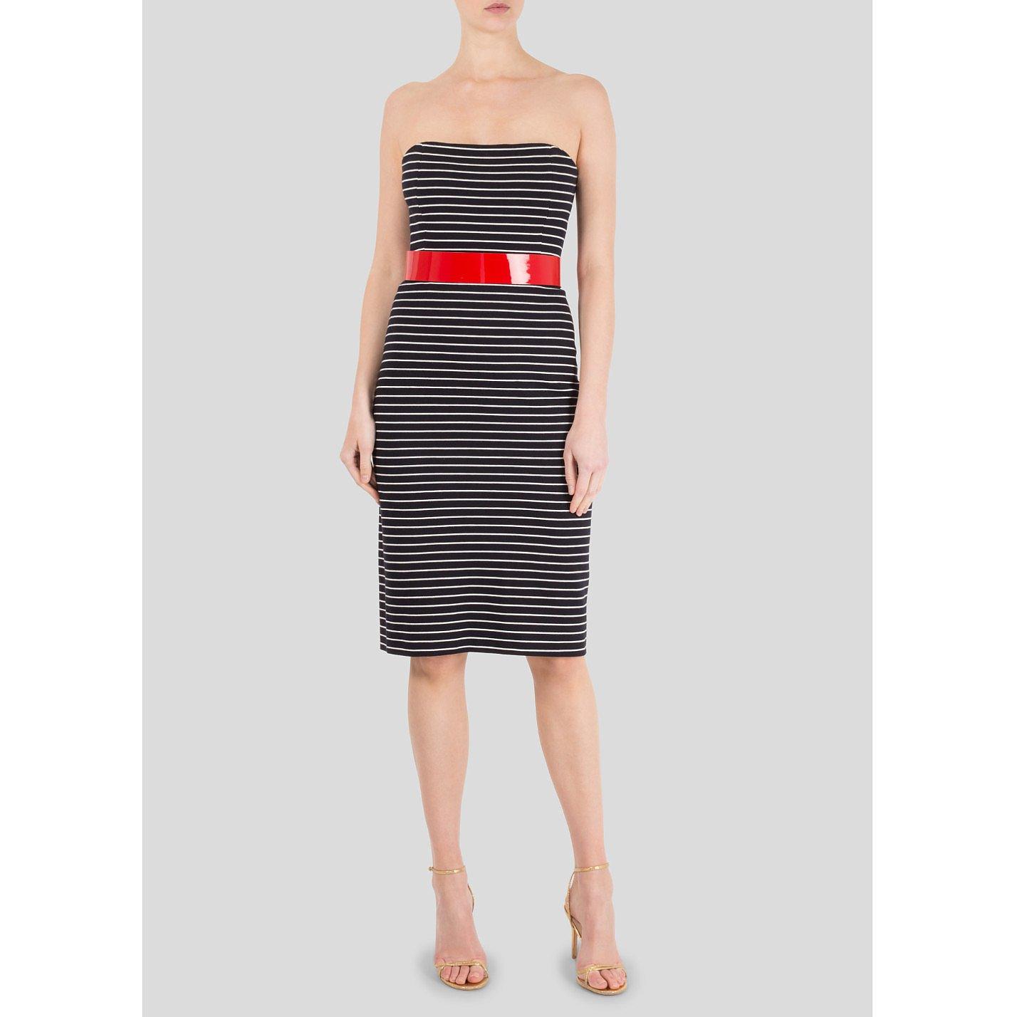 Michael Kors Nautical Striped Strapless Dress