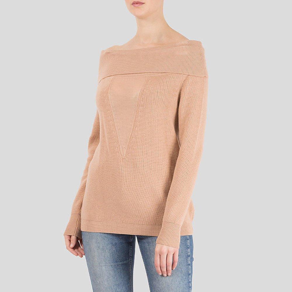 Cushnie Et Ochs Off-The-Shoulder Wool Sweater