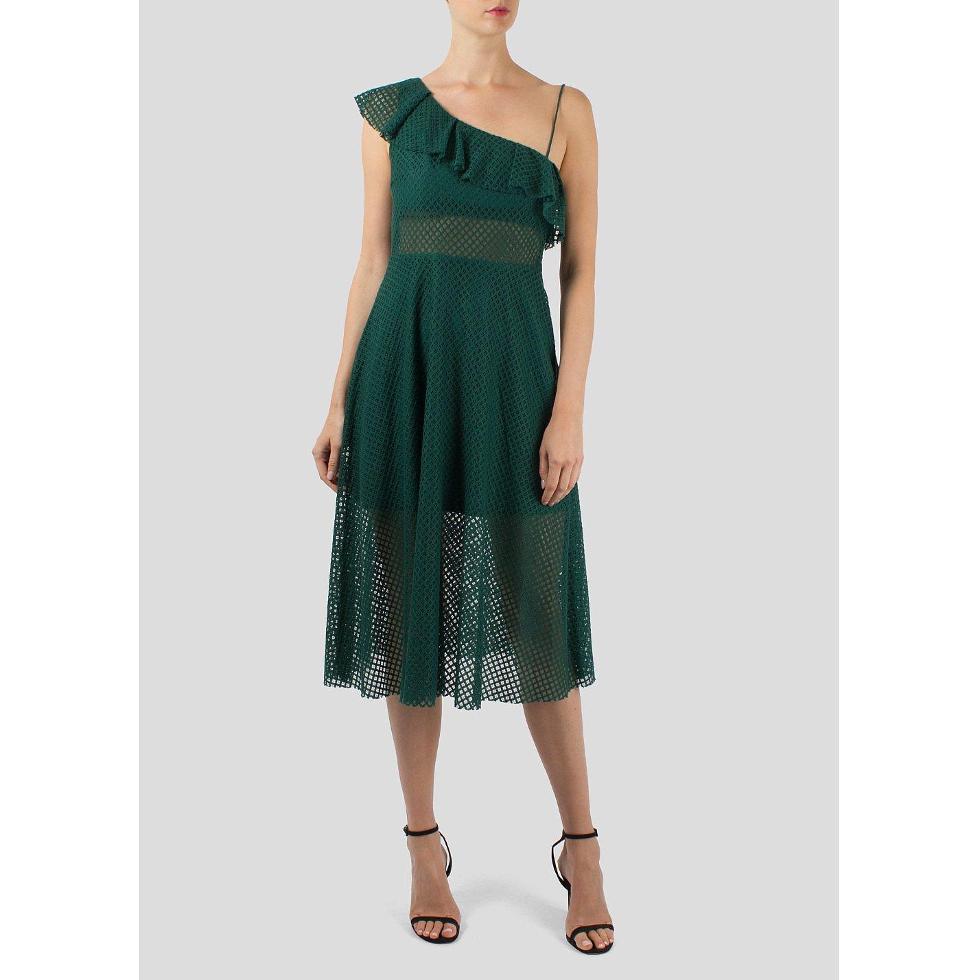 Sandro Ruffle Shoulder Dress