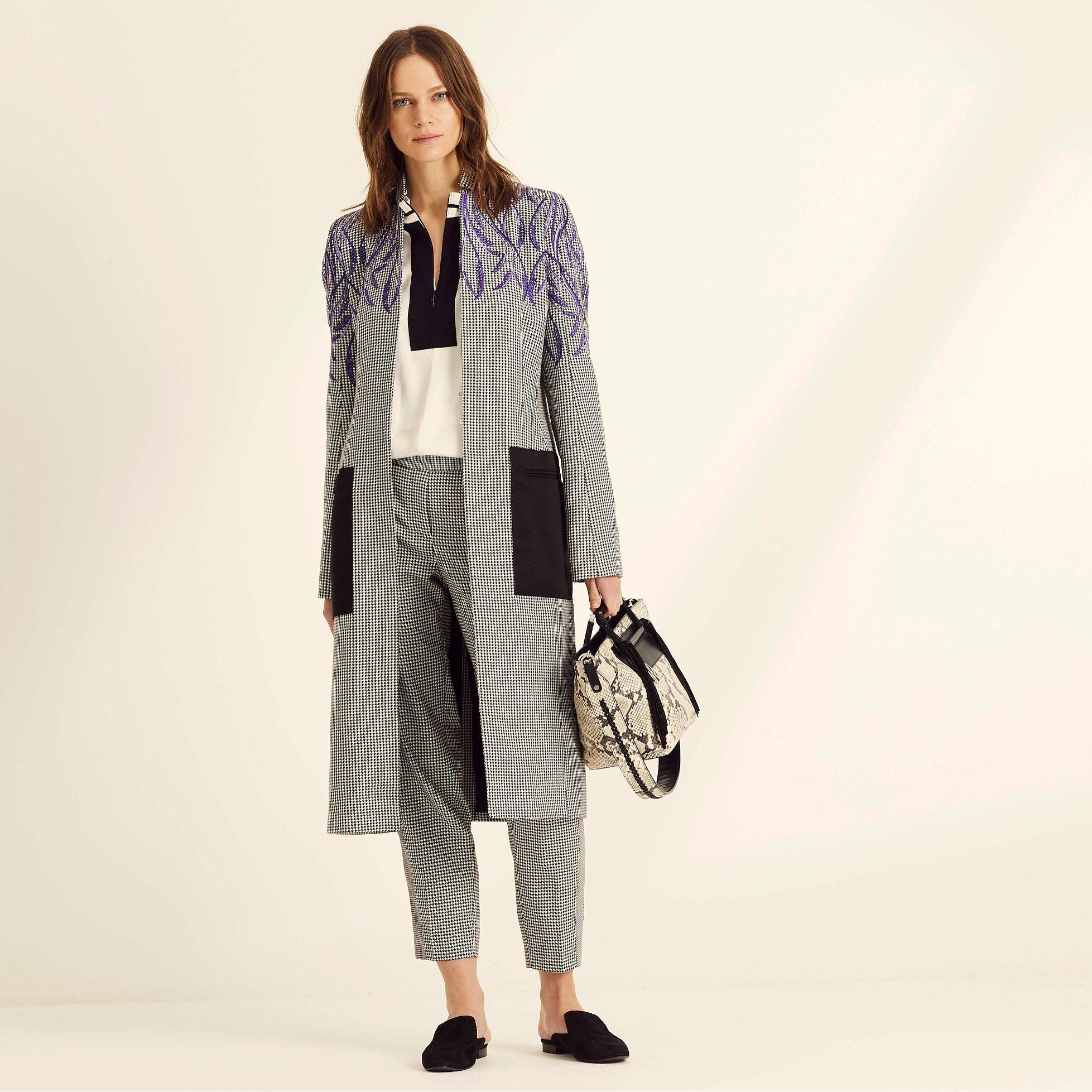 Amanda Wakeley Check Crombie Coat