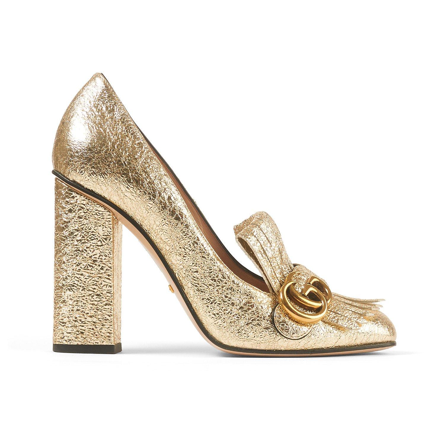 Rent or Buy Gucci Gold Platform Heels