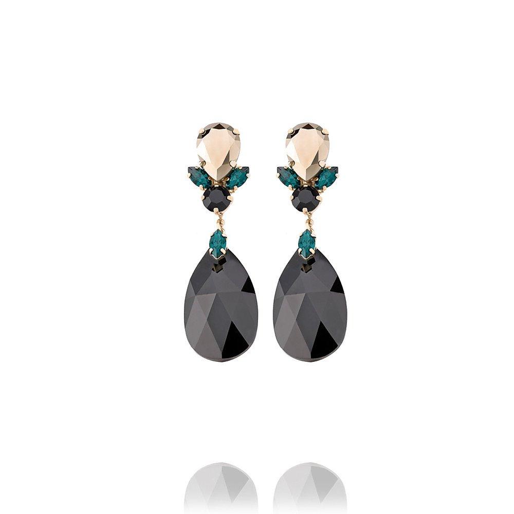 Anton Heunis Round Crystal Drop Earrings