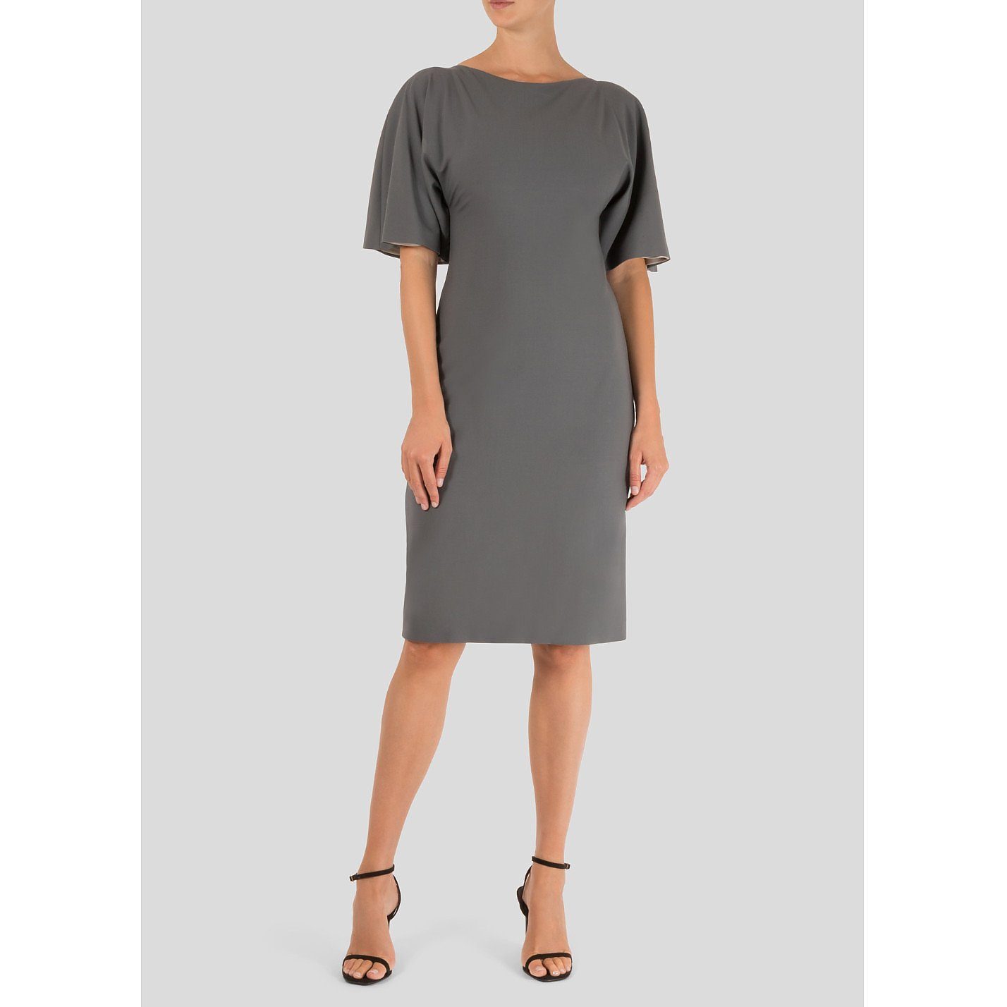 Britt Lintner Short Sleeved Wool Dress