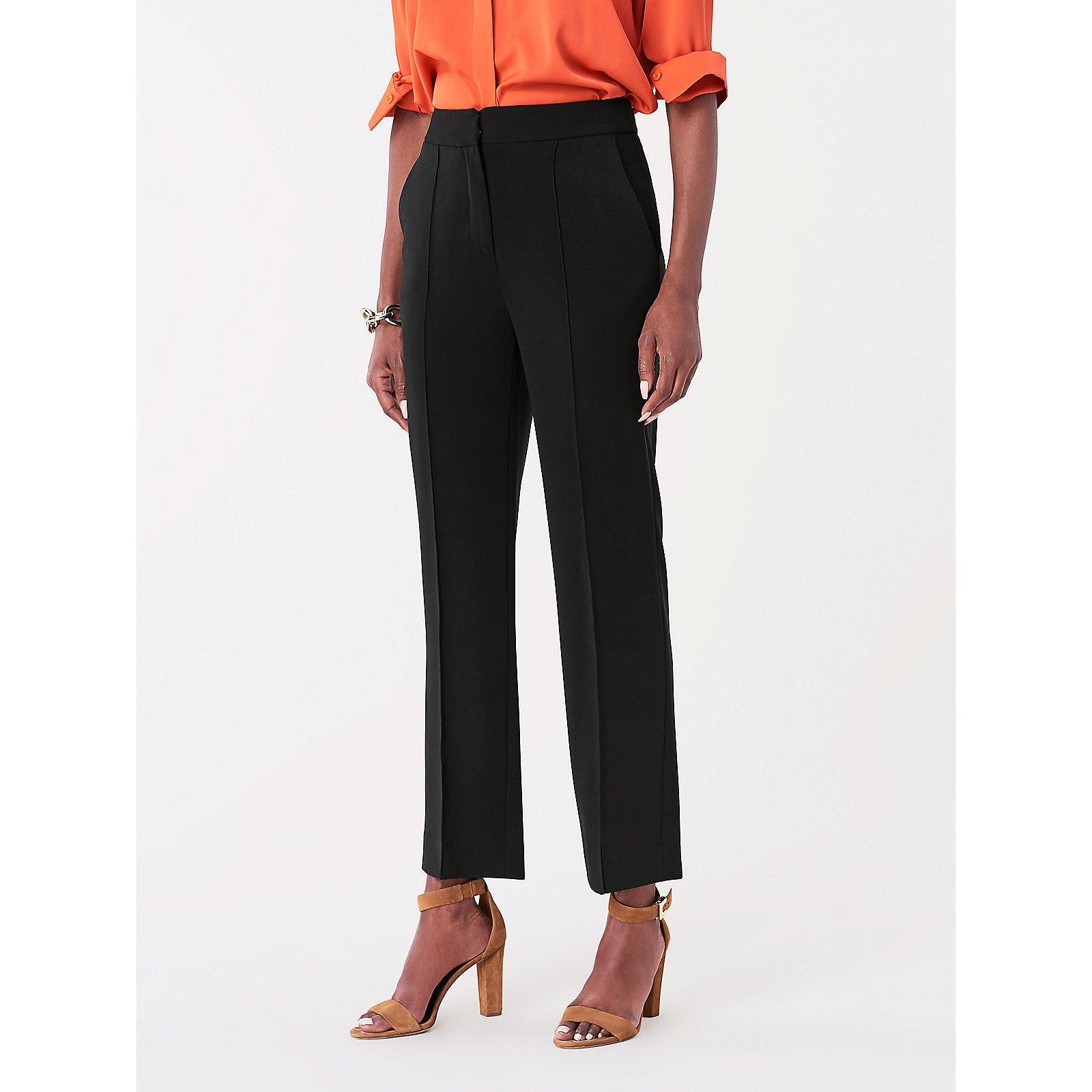 Diane von Furstenberg Jocelyn Stretch-Crepe Cropped Trousers