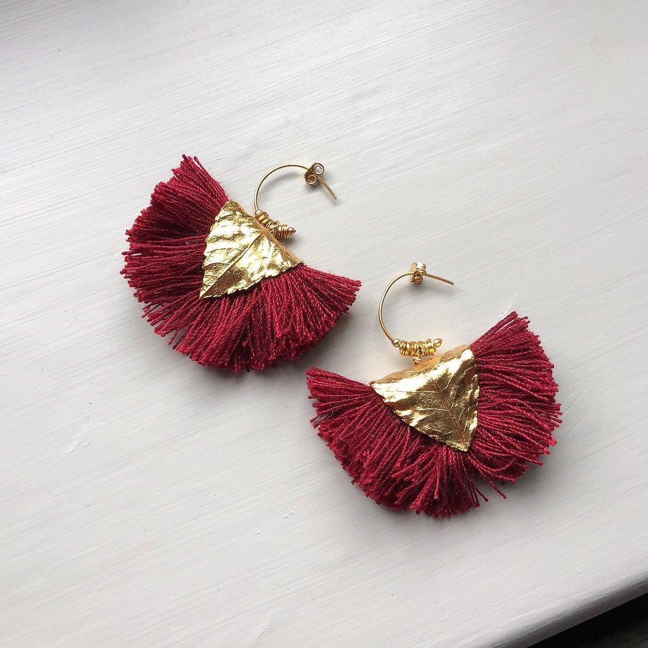 Martes Frisnes Fan Tassel Earrings