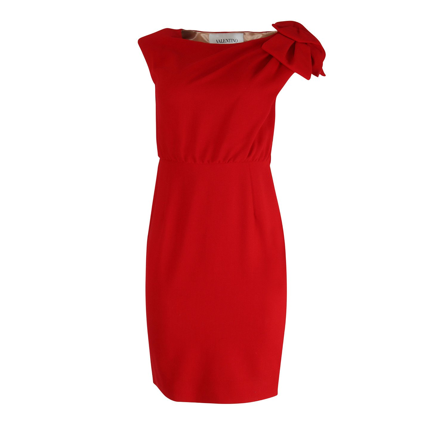 Valentino Wool Dress With Bow Shoulder Detail