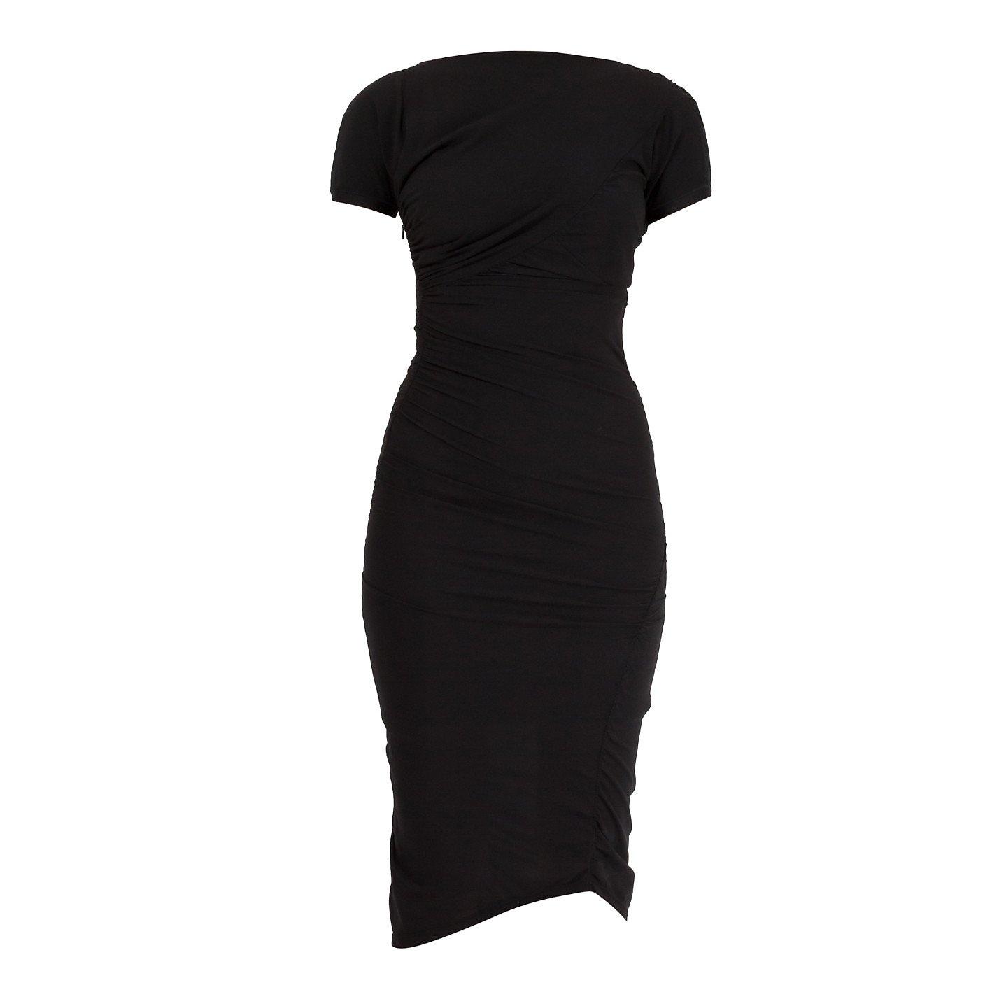 Balenciaga Ruched Silk Midi Dress