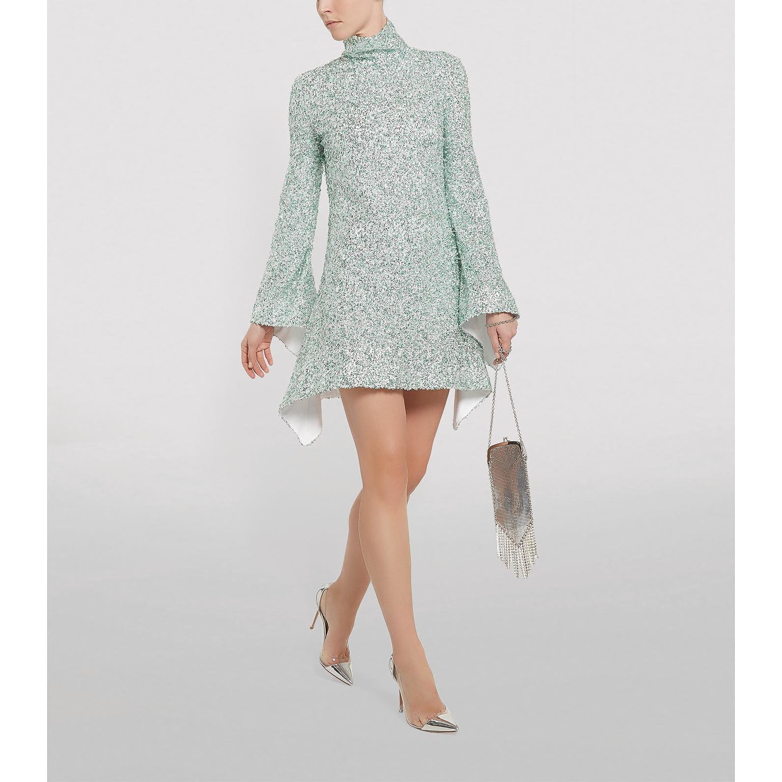 Halpern Sequinned Mini Dress
