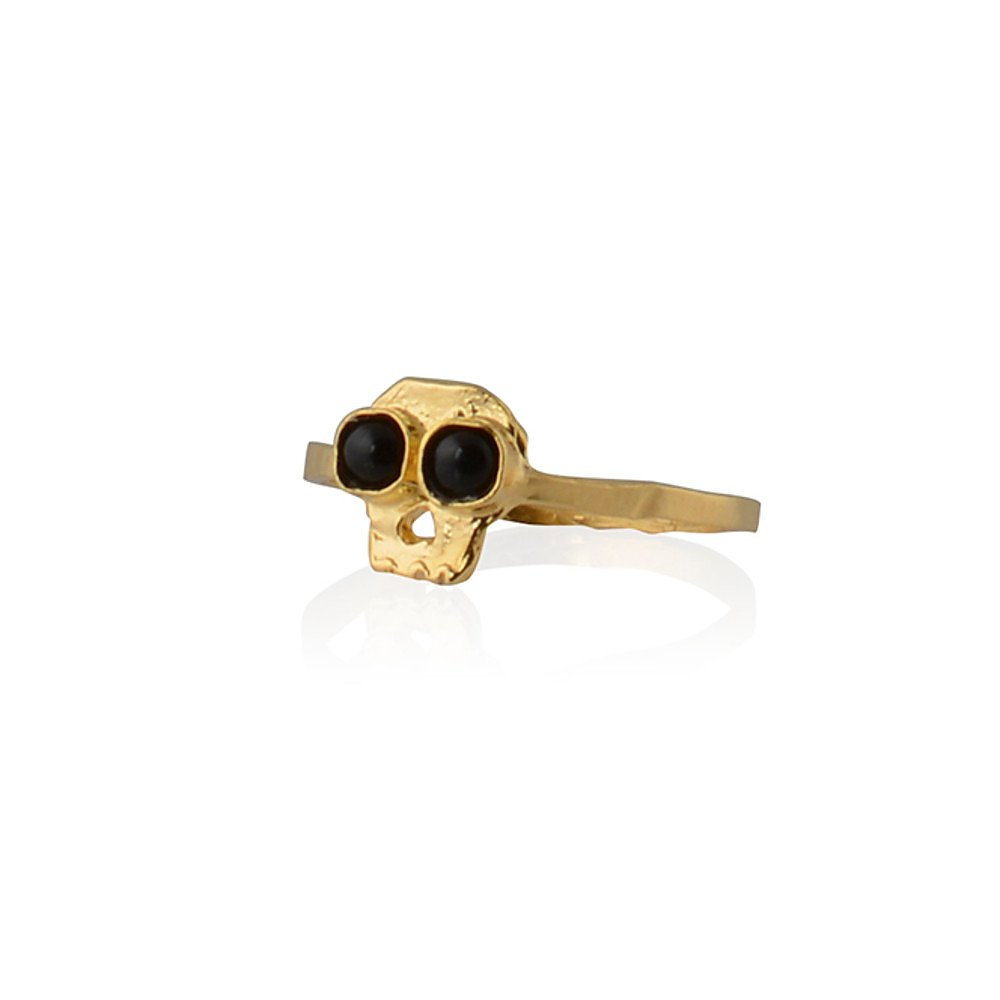 Buba Skull and Onyx Ring