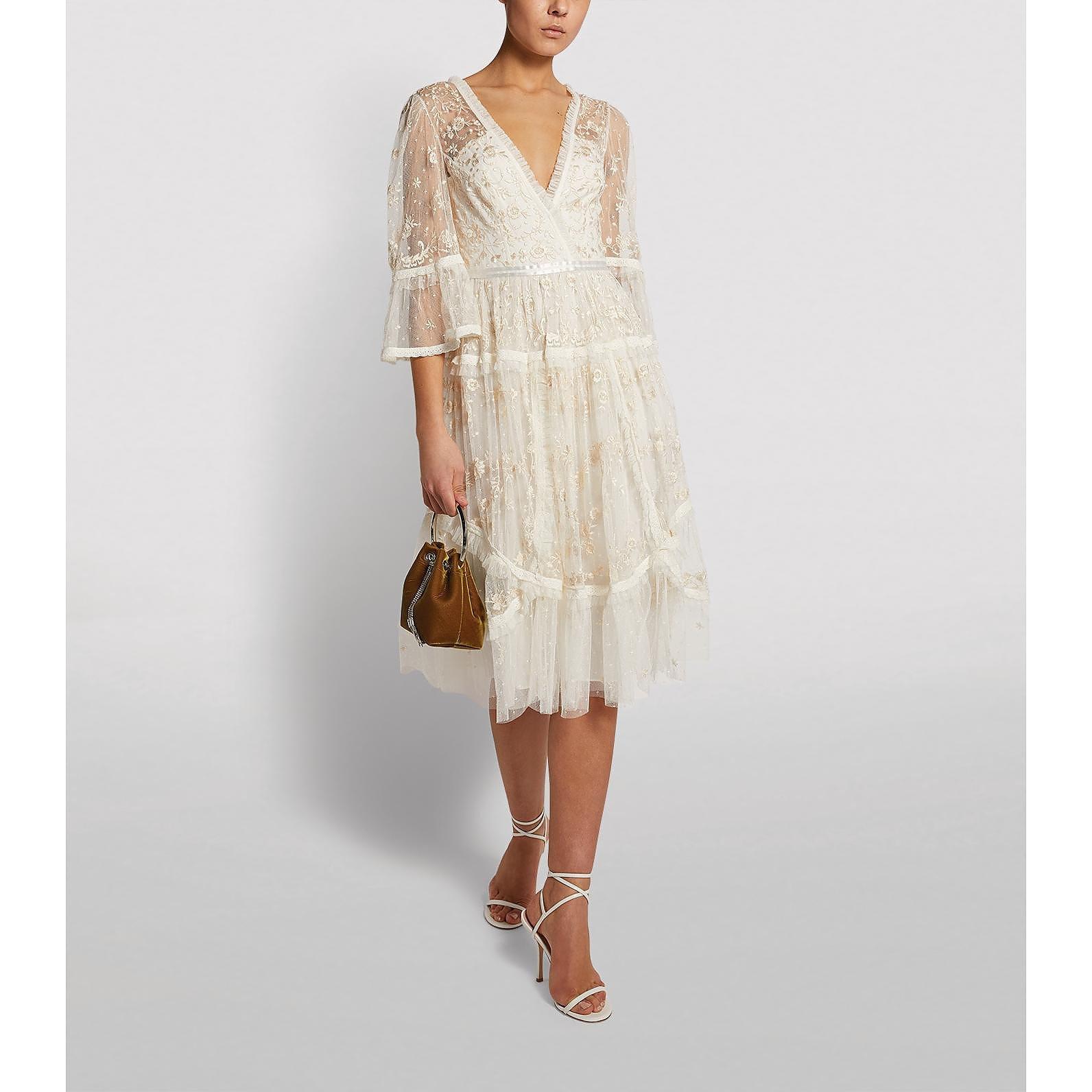 Needle & Thread Pennyflower V-Neck Midi Dress