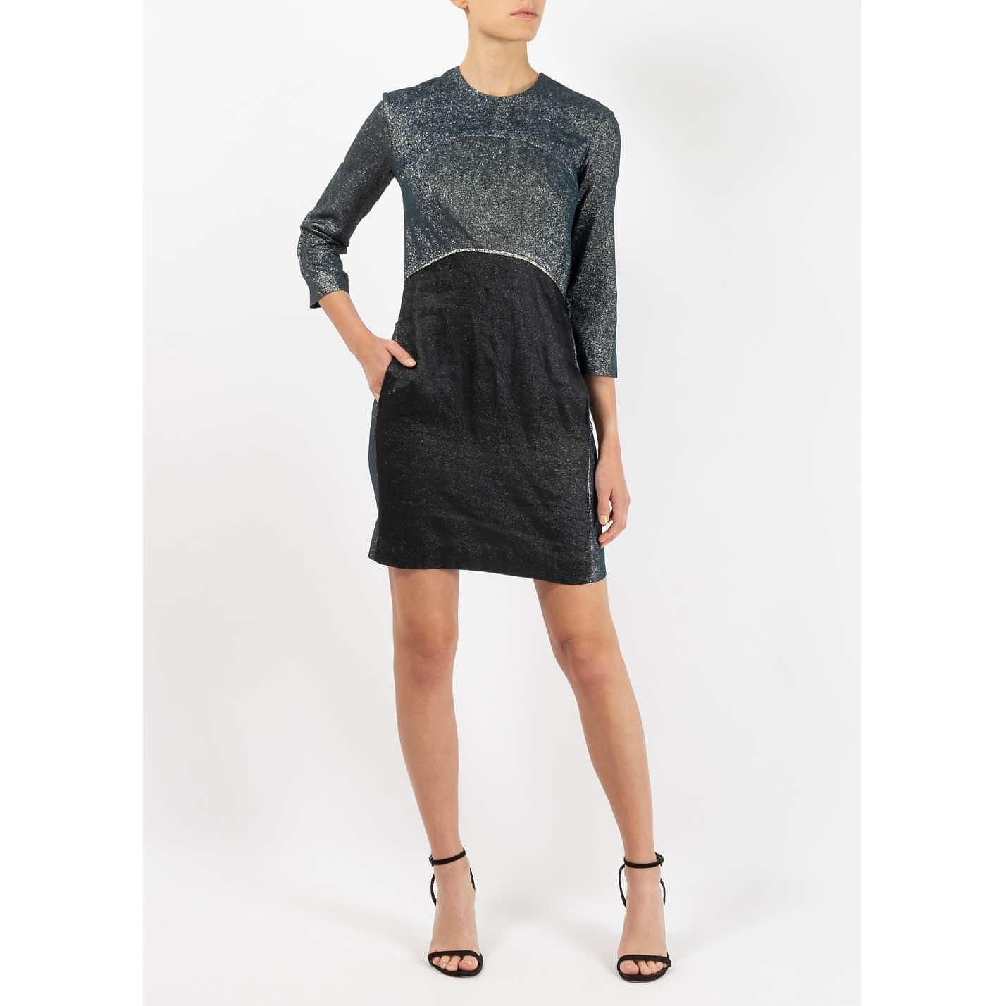 Victoria Beckham Metallic Mini Dress