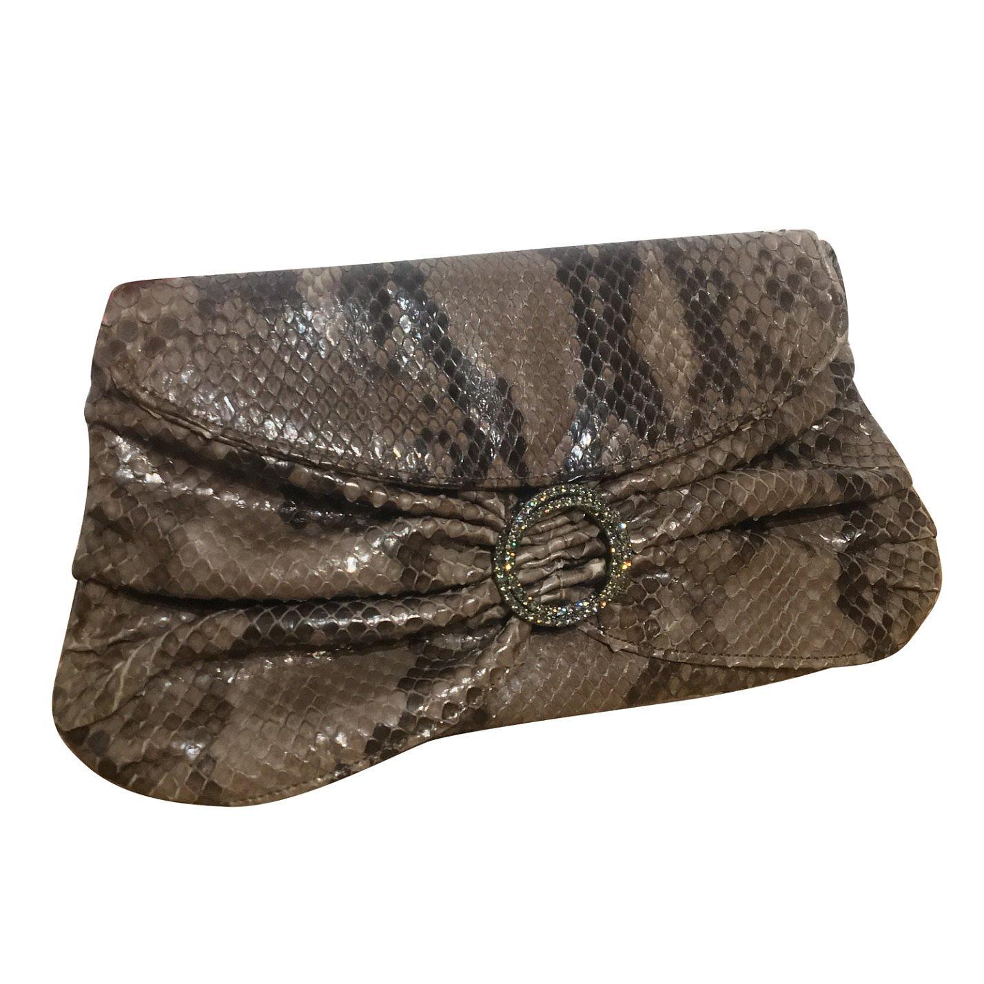 Anya Hindmarch Snakeskin Jewel Clutch