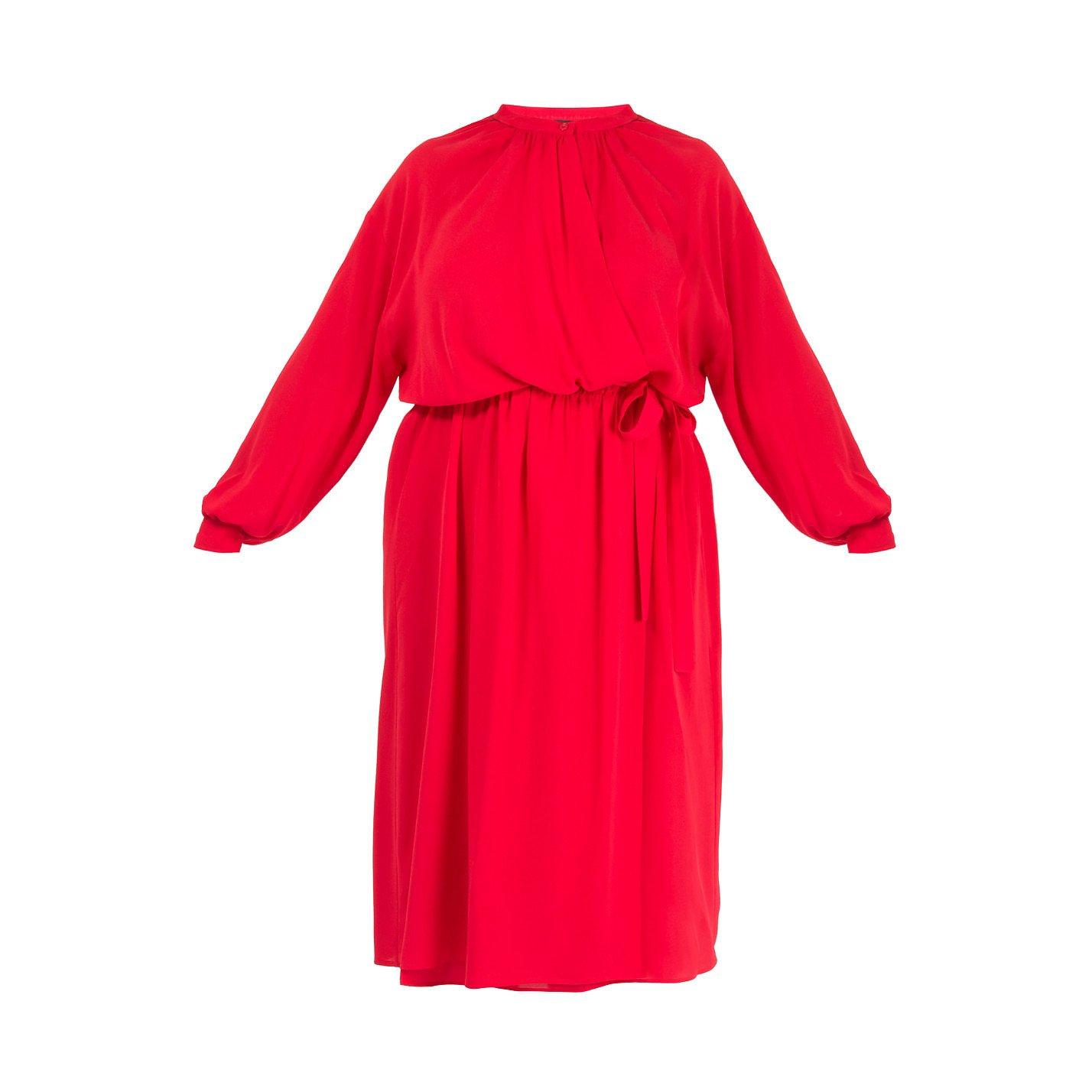 Joseph Nolan Wrap-Effect Silk Midi Dress