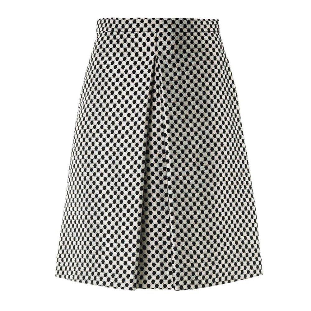 Osman Yousefzada Checkered Brocade Skirt
