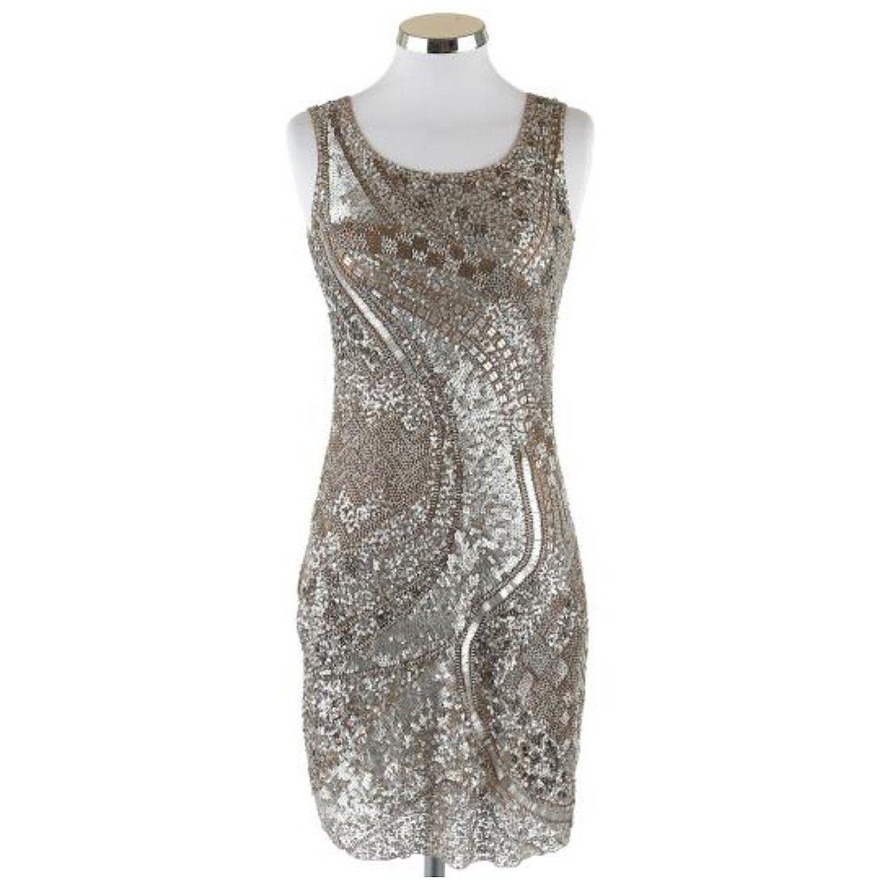 Farahkhan Embellished Metallic Mini Dress