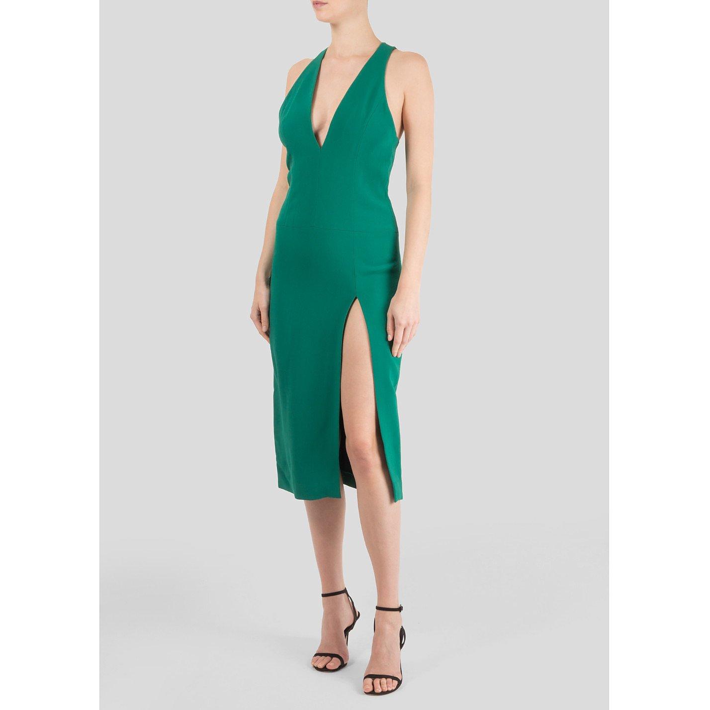 Dion Lee V-Neck Crepe Dress