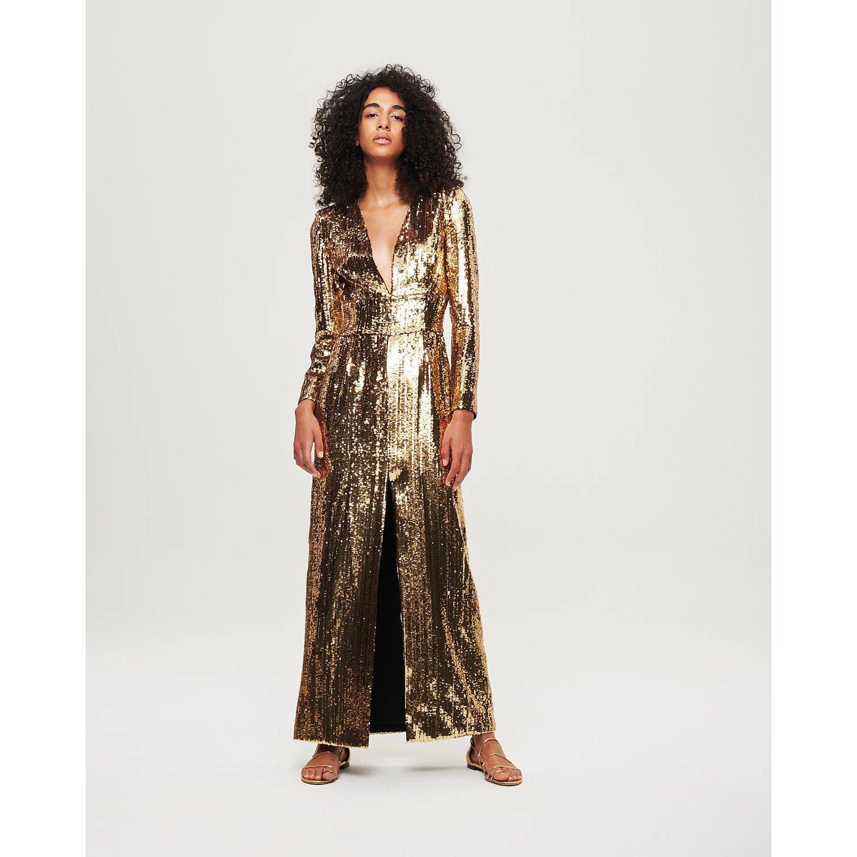 Borgo De Nor Gisele V-Neck Sequinned Maxi Dress