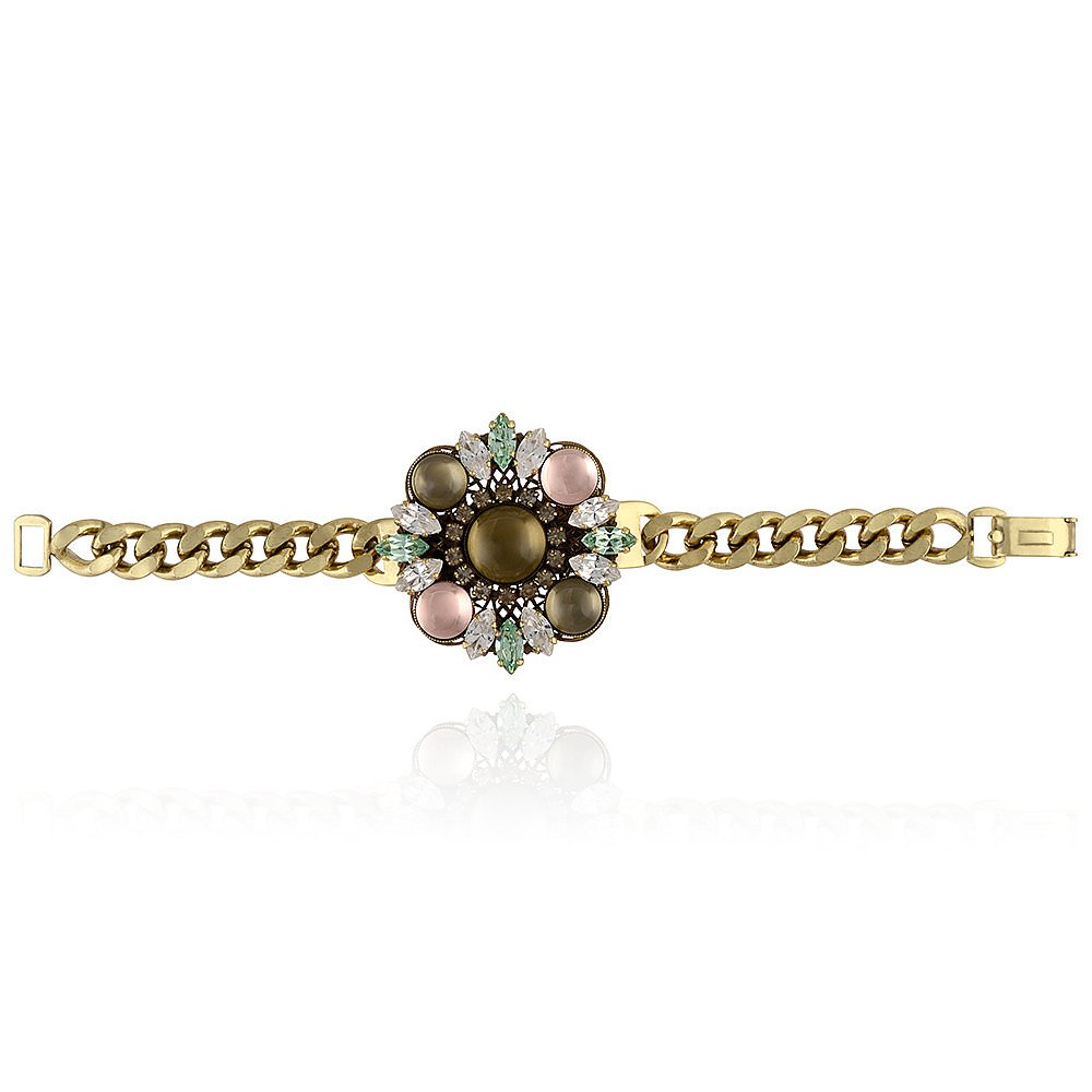 Anton Heunis Floral Crystal Motif Bracelet
