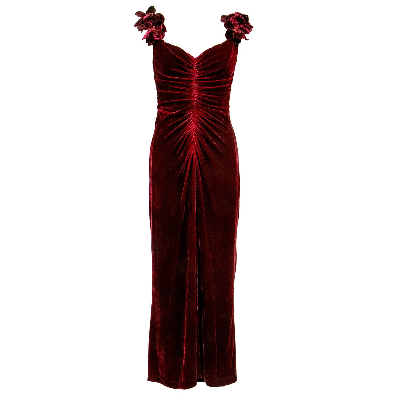 Narrations LDN Vintage Bellville Sassoon Lorcan Mullany Silk Velvet Dress