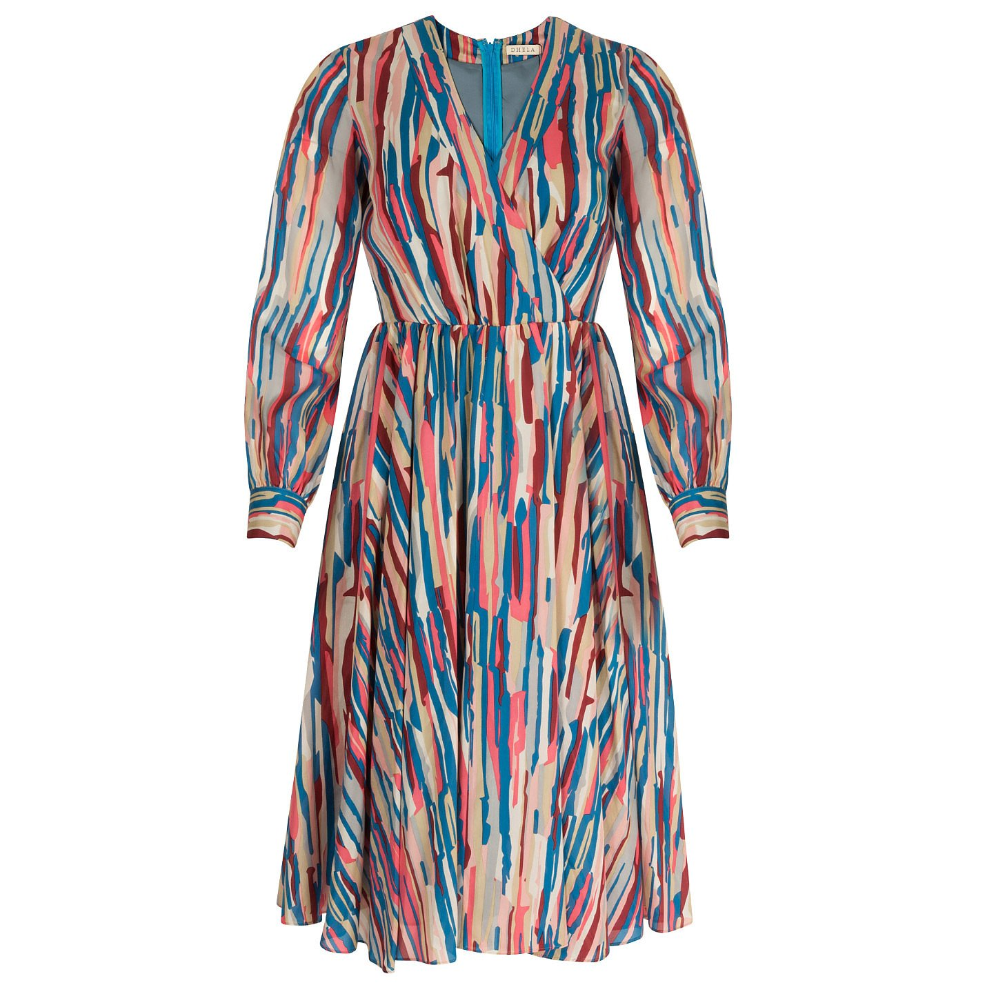 Dhela Multicolour Painterly-Print Dress