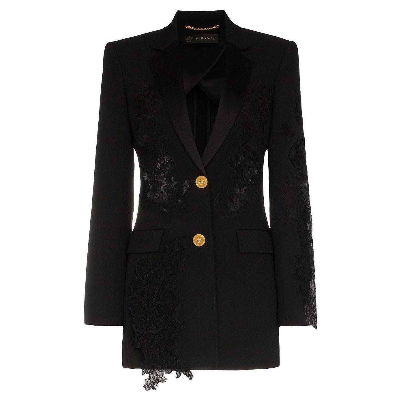 Versace Lace-Panelled Blazer
