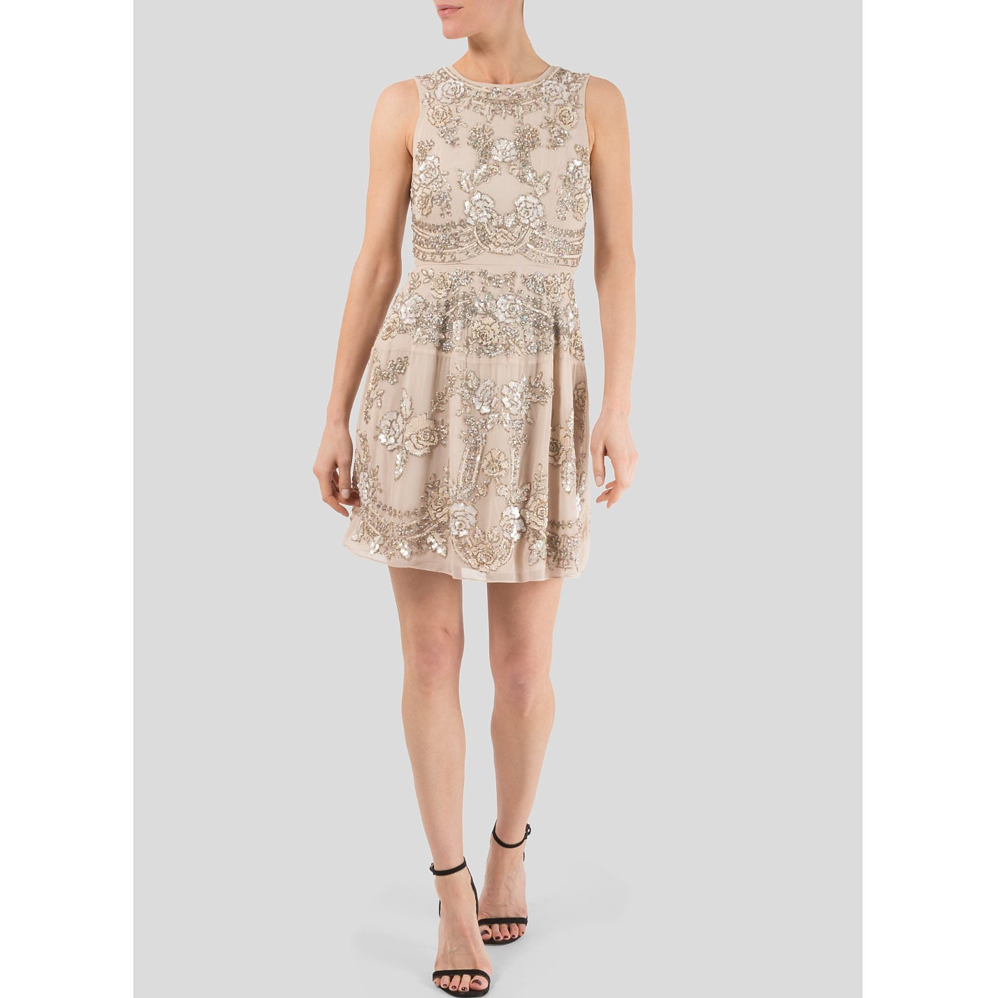 Needle & Thread Sequin And Beaded Floral Mini Dress
