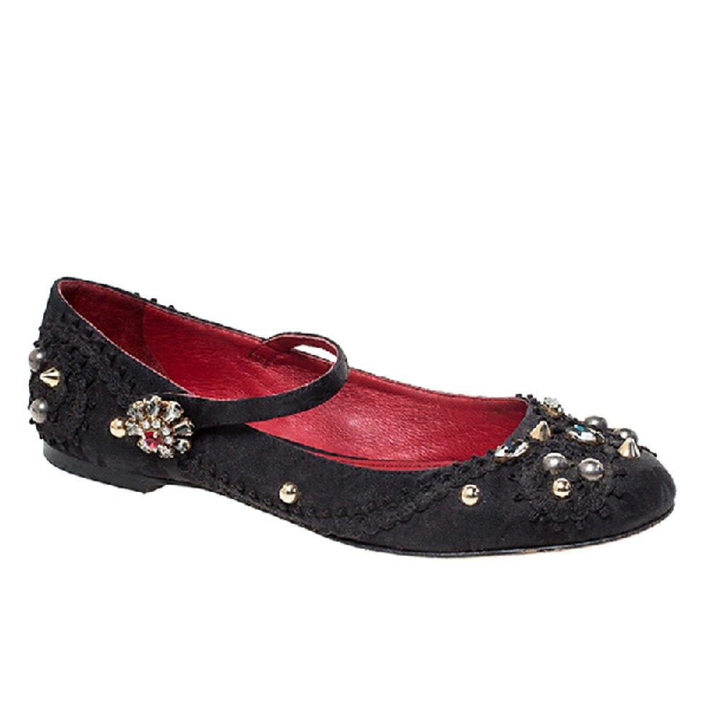 DOLCE & GABBANA Embellished Mary Jane Flats