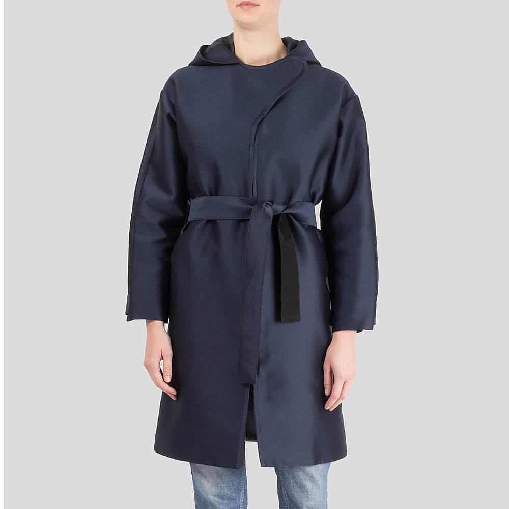 Carven Structured Hooded Coat