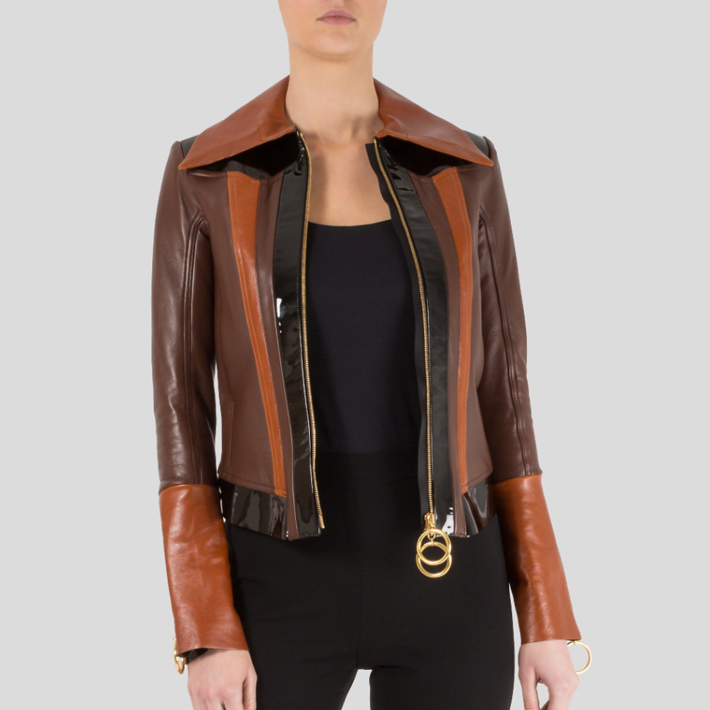 Thomas Tait Panelled Leather Jacket