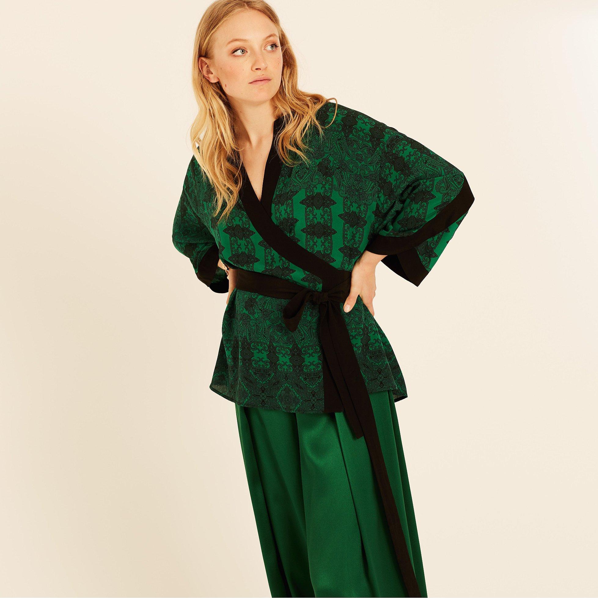 Amanda Wakeley Printed Paisley Wrap Top