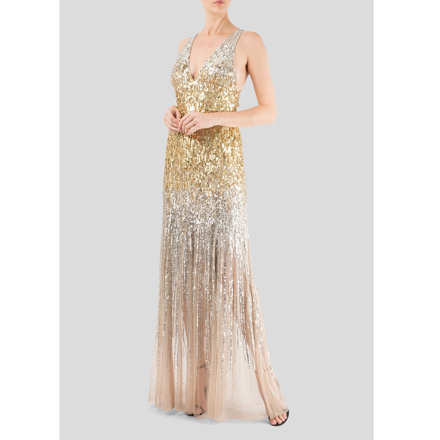 Jenny Packham Sequinned Crossback Gown