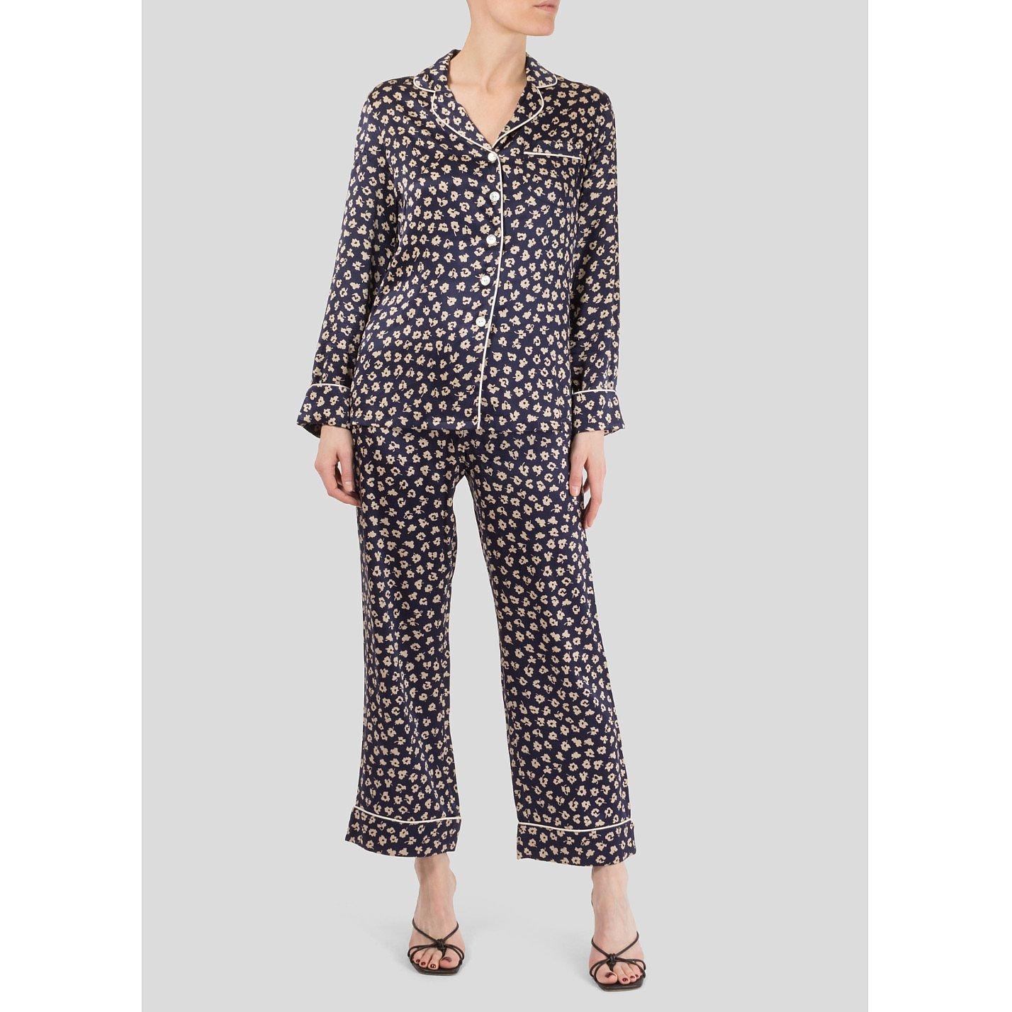 Olivia von Halle Silk Satin Pyjama Set