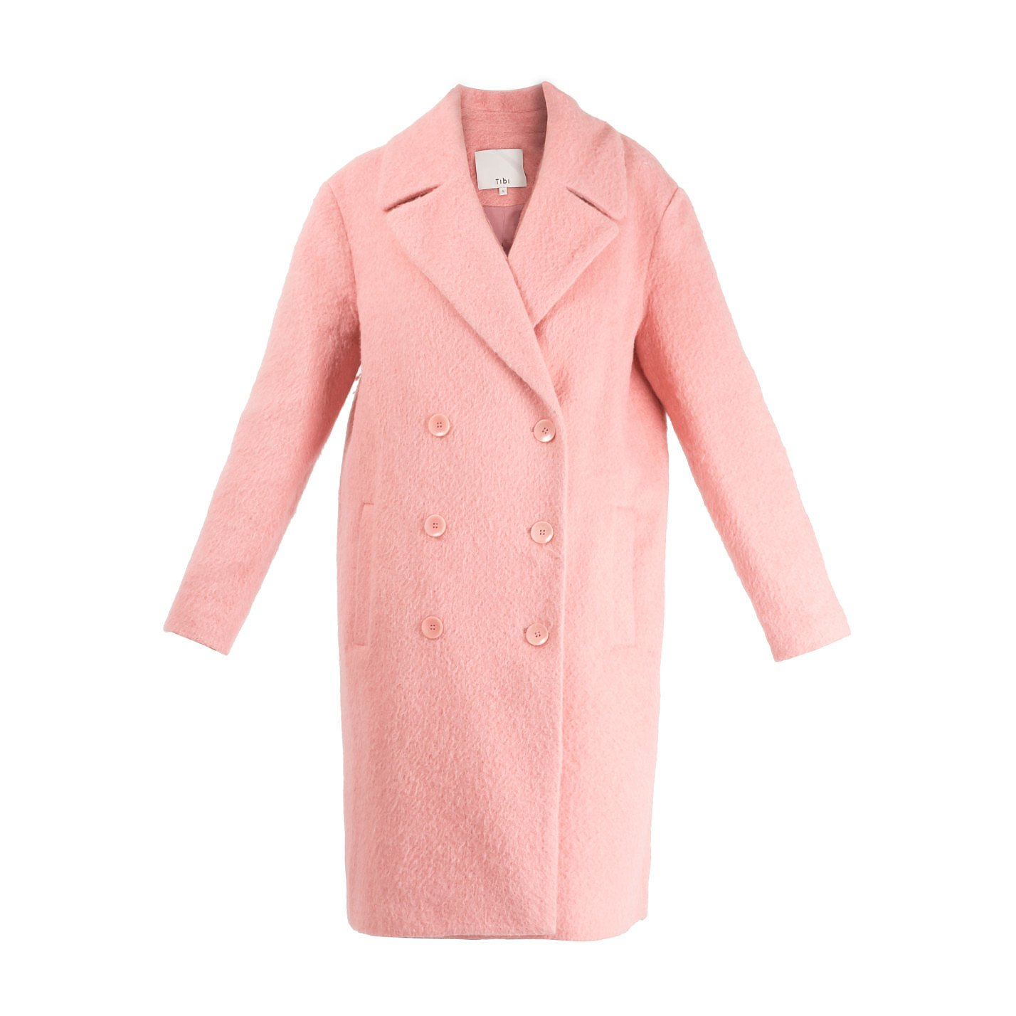 Tibi Mohair Blend Coat