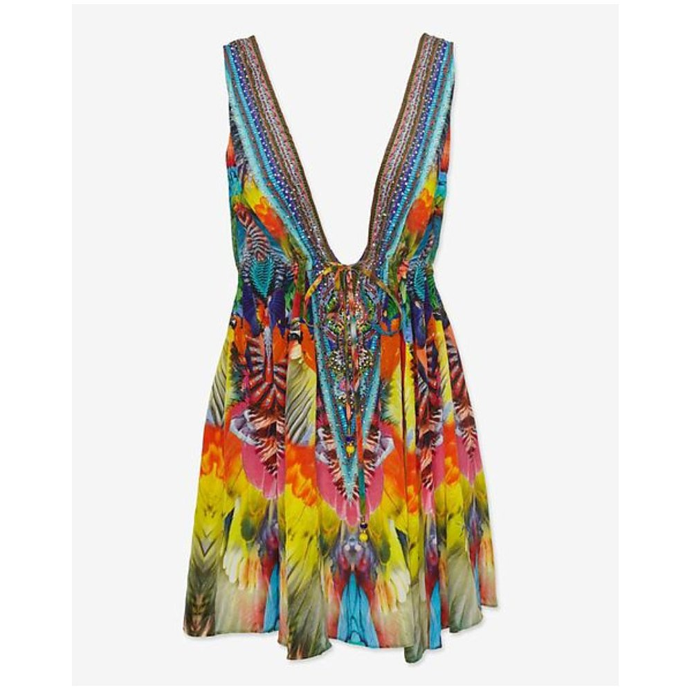 Camilla Parrot Sequin Cover Up