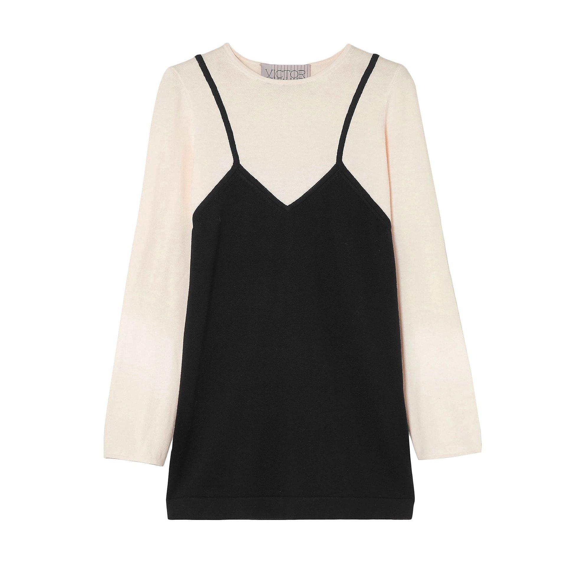 Victor Glemaud Two-Tone Mini Dress
