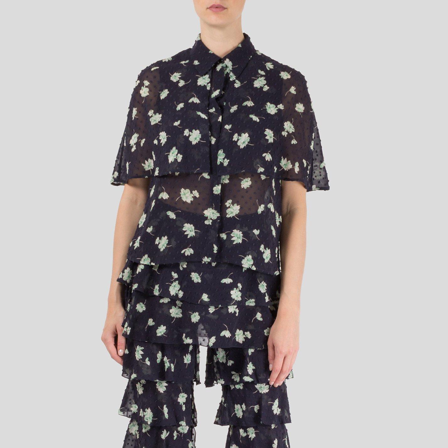 Starsica Floral Print Cape Shirt