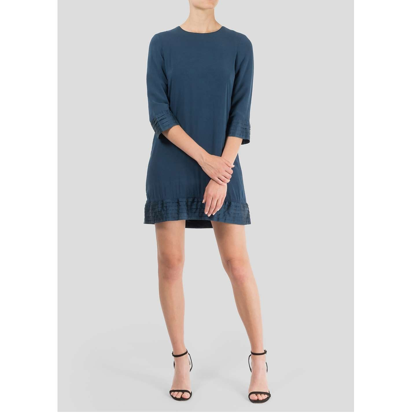 Burberry Pleat-Trim Dress