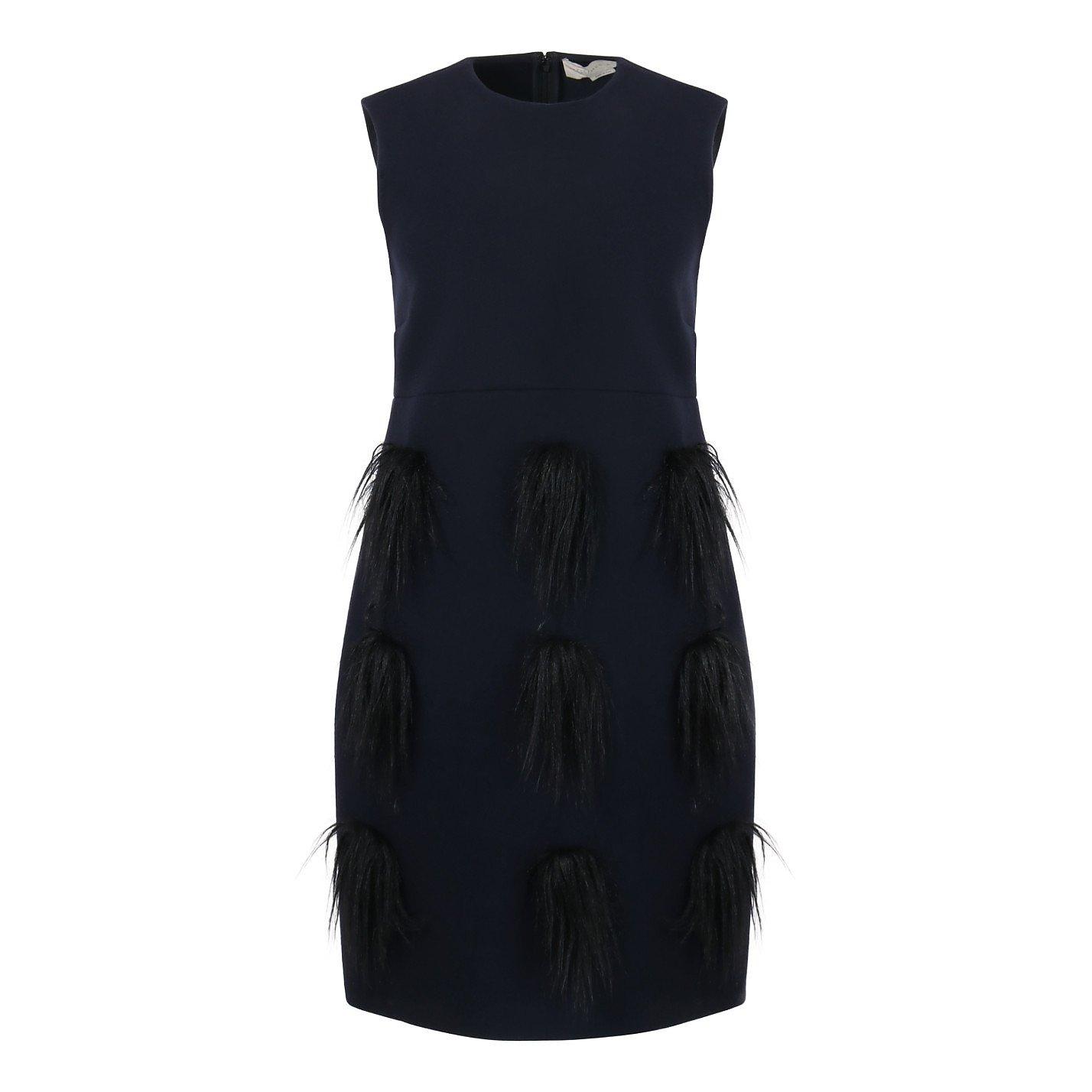 Stella McCartney Wool Dress With Faux Fur Applique