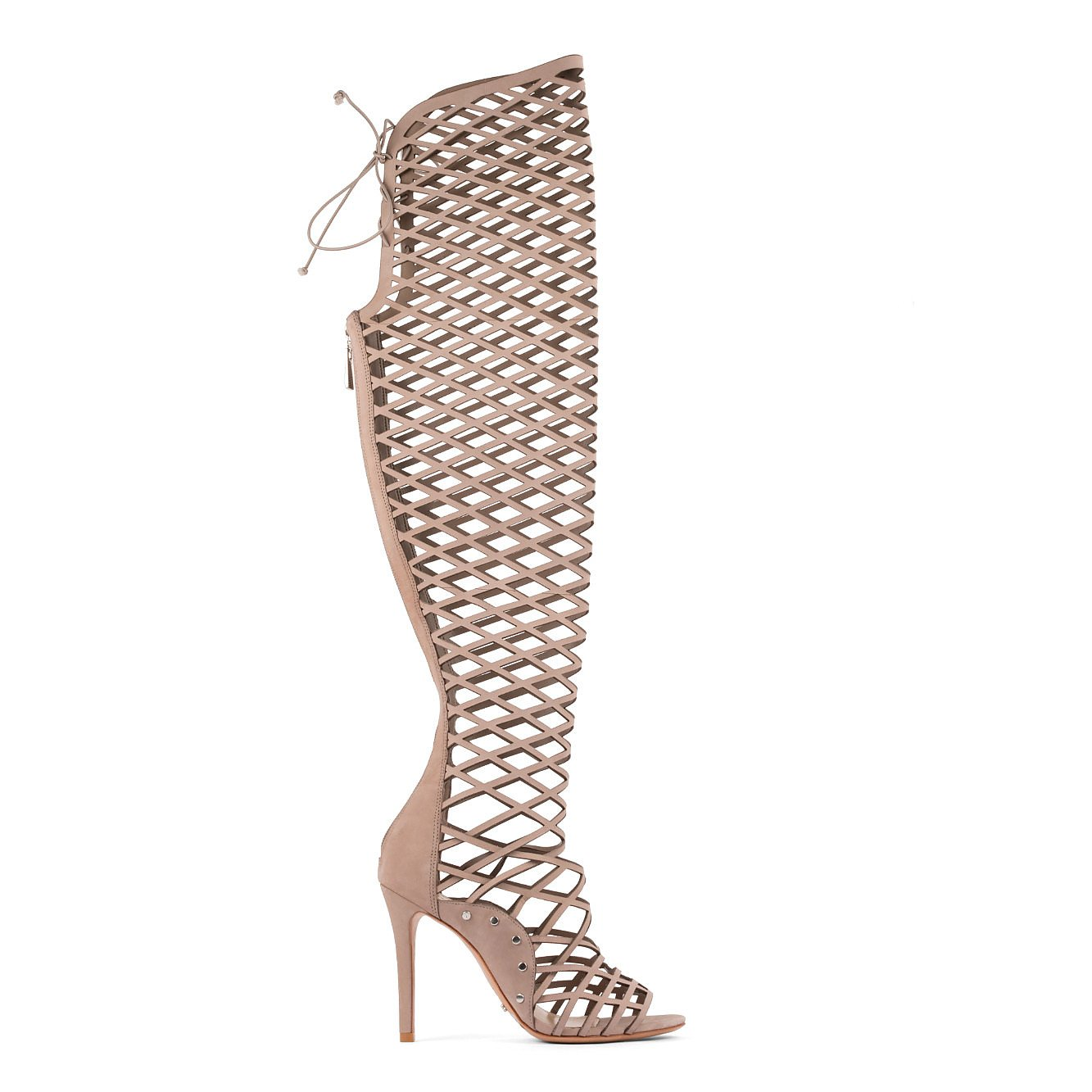 Schutz Karlyanna Caged Knee-High Heels